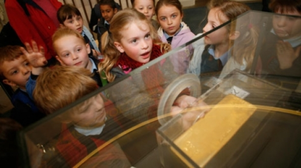 Bank of England Museum's gold bar