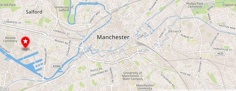 Central Manchester map
