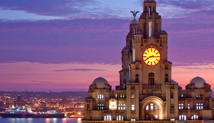 Sunset over Liverpool