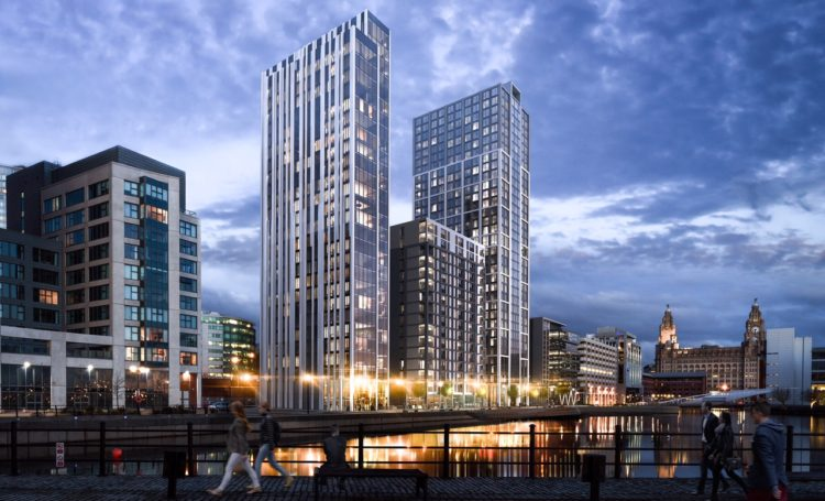 Residential and office space at Princes Dock