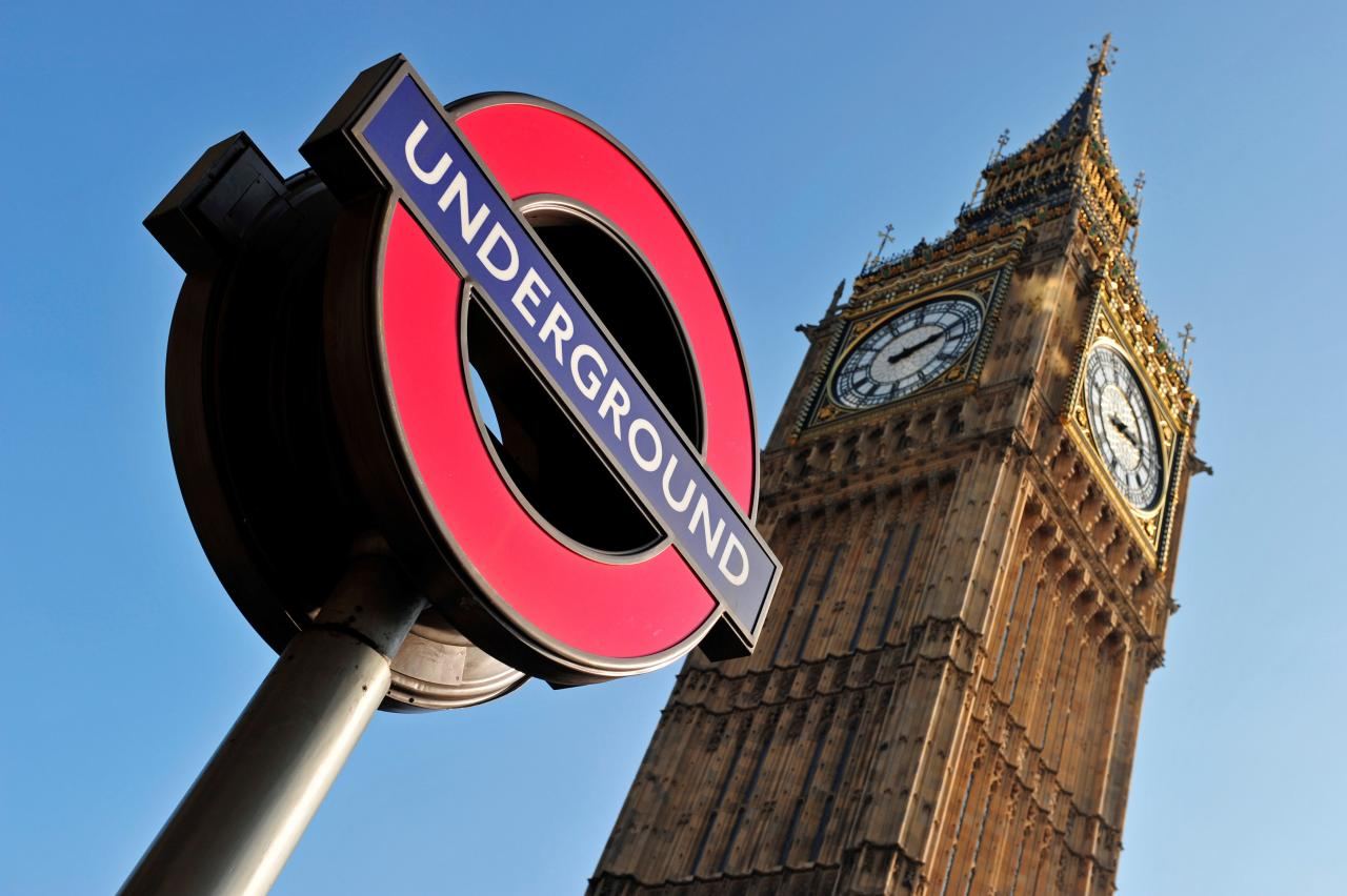 London's extensive and ever expanding underground system